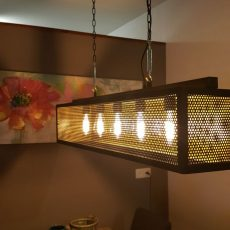 Industriële hanglamp Gold serie