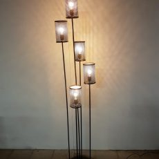 Industriële staande lamp Gold serie